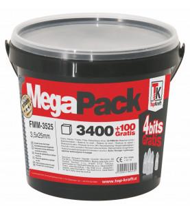 Vruty do SDK TX s hrubým závitem 3,5x25 3500 ks MEGAPACK