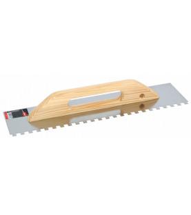 Hladítko nerezové zubové s dřevěnou ručkou 480x130x8x8mm KR17-1888