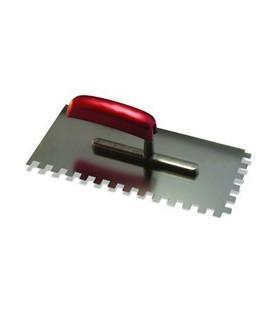 Hladítko nerezové zubové s dřevěnou ručkou 280x130x4x4mm KR17-1484